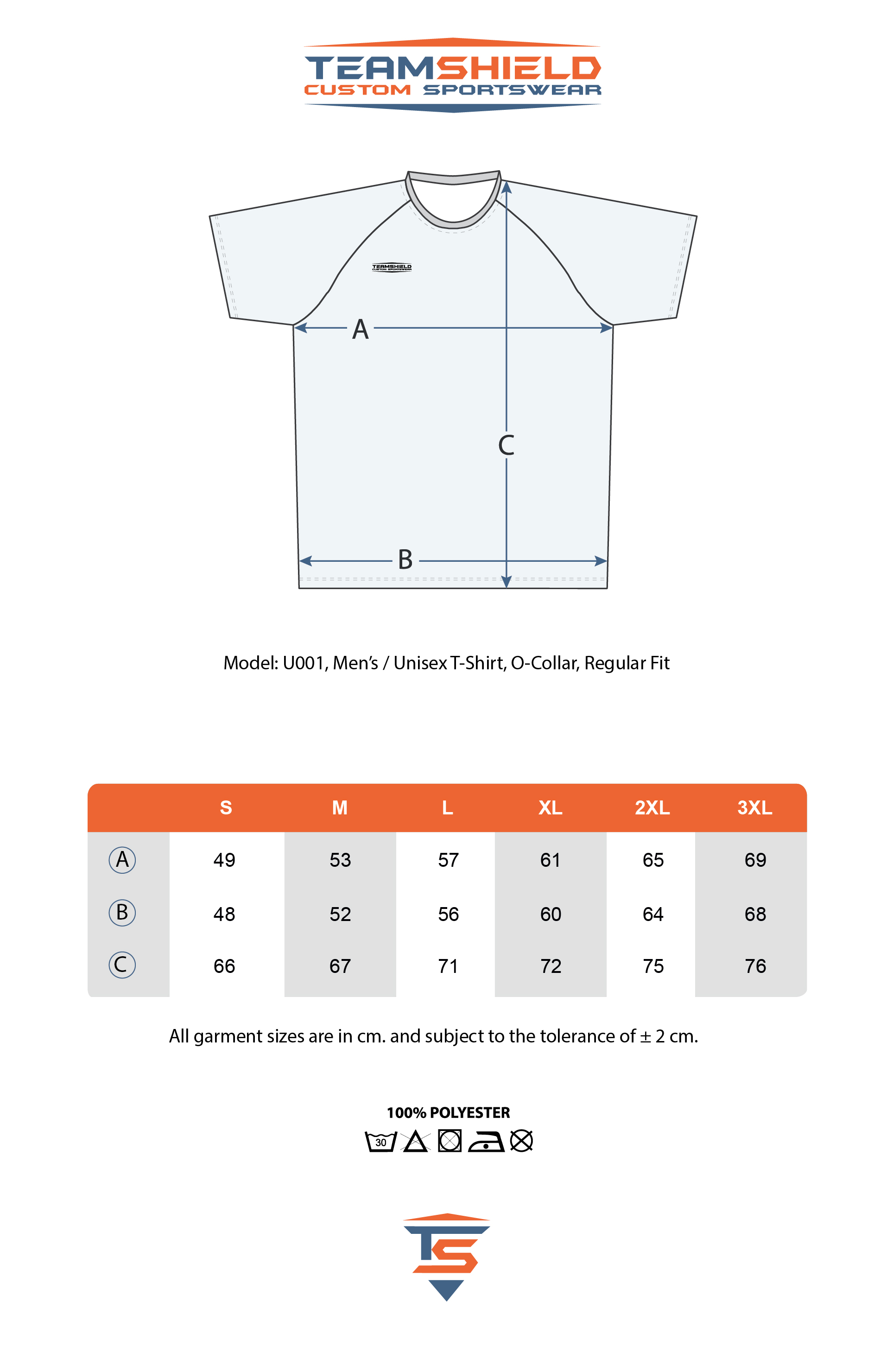 Teamshield-Custom-Teamwear-Sizechart-U001-Raglan-Sublimation-Shirt-Regular-Fit