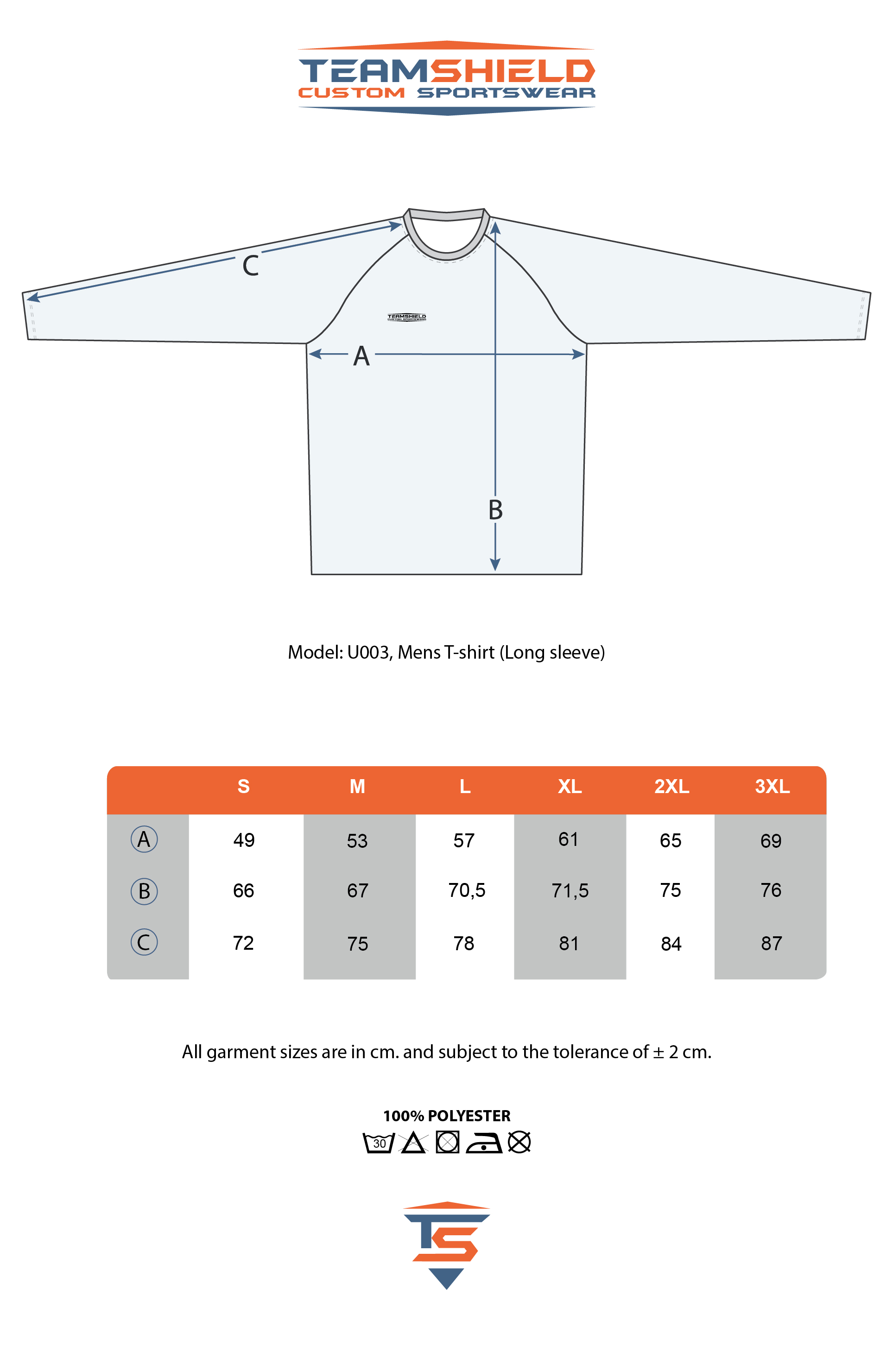 Teamshield-Custom-Teamwear-Sizechart-U003-Sublimation-Shirt-Unisex-Long-Sleeve