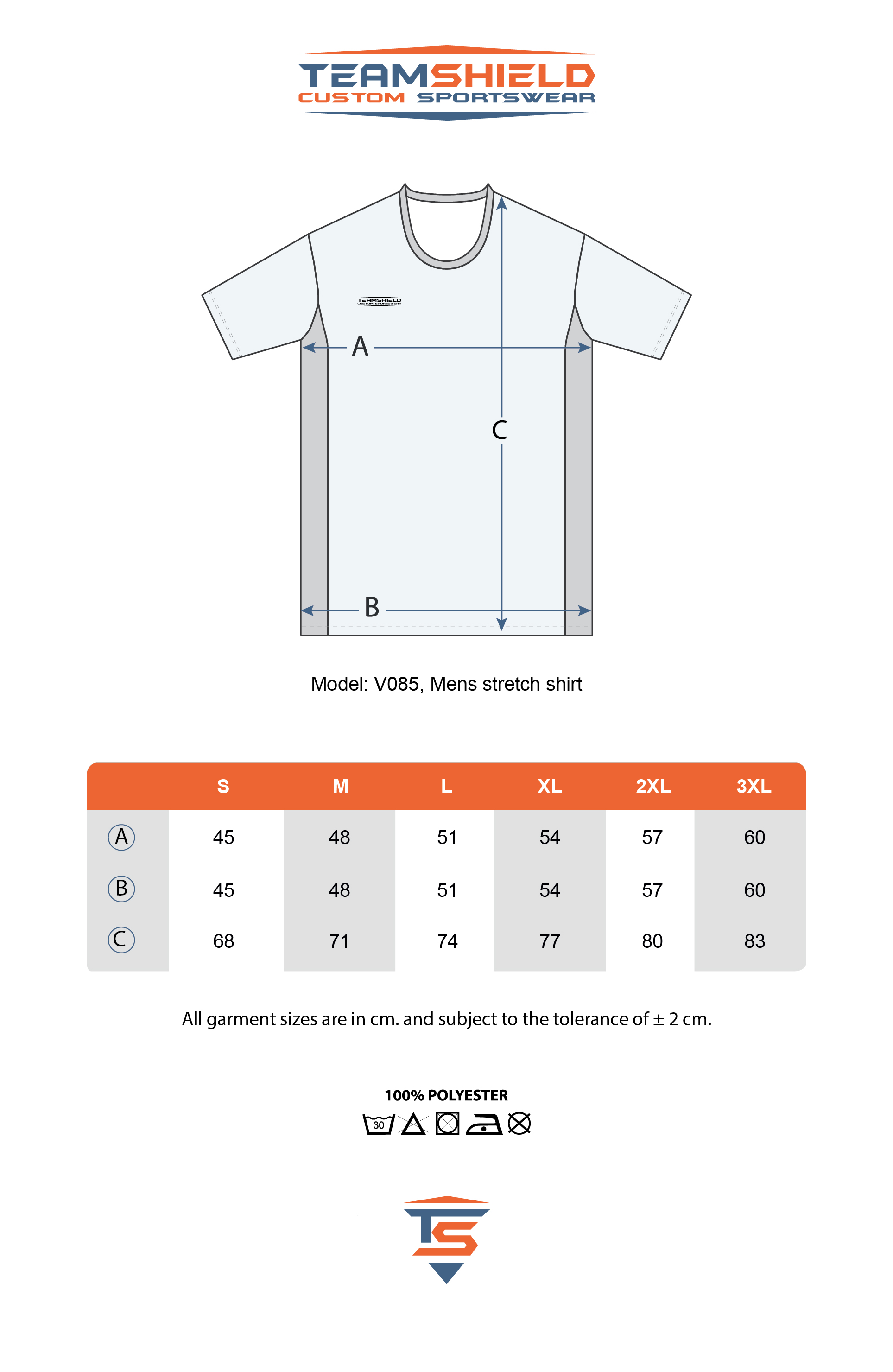 Teamshield-Custom-Teamwear-Sizechart-V085-Sublimation-Shirt-Body-Fit